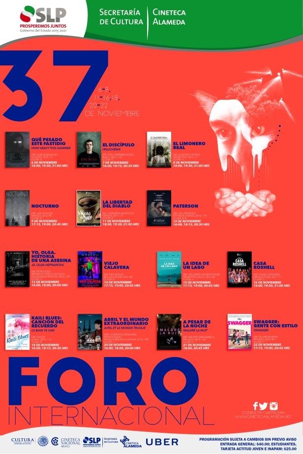 37 Foro Internacional de Cine SLP cartel2