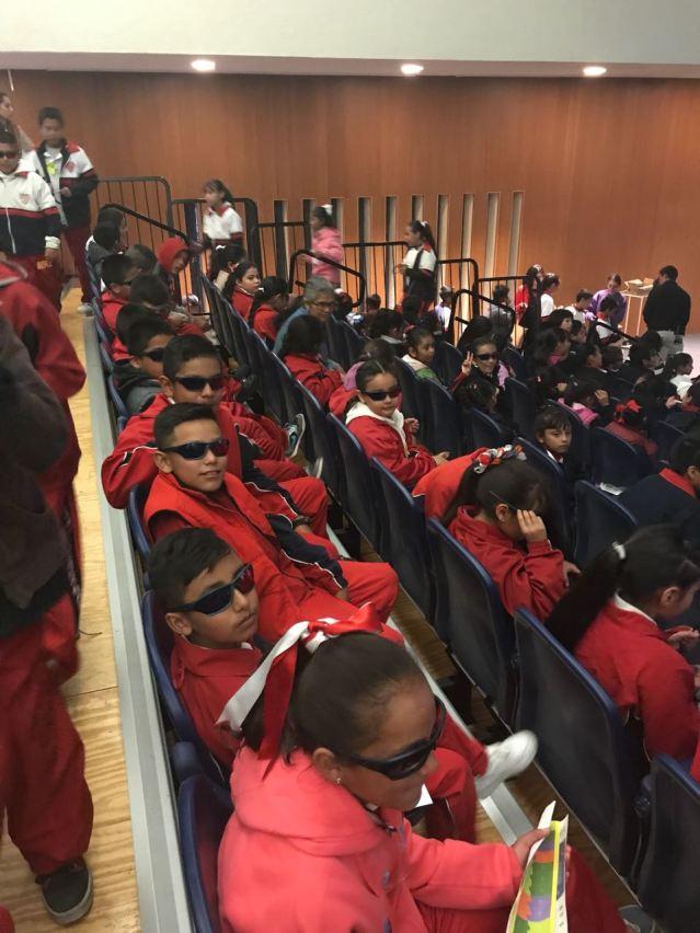 niños de la Primaria Belisario Dominguez turno matutino acudieron al museo laberinto