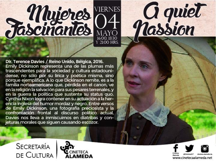 Una pasión discreta - Cineteca Alameda SLP ciclo Mujeres Fascinantes cartel.JPG