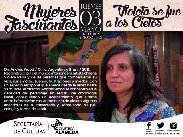 Violeta se fue a los cielos - Cineteca Alameda SLP ciclo Mujeres Fascinantes.JPG